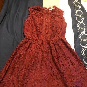 Speechless plum lace dress